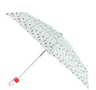 totes Mini Round Square Print Umbrella (5 Section)