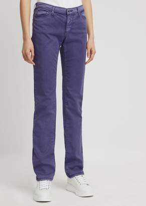 Emporio Armani Garment-Dyed Straight-Slim-Fit J85 Jeans In Comfort Gabardine