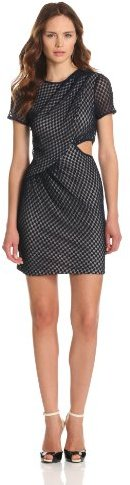 Charlotte Ronson Women's Dot Tulle Draped Dress With Cut Out