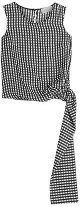 Preen by Thornton Bregazzi Printed Silk Shell with Tie