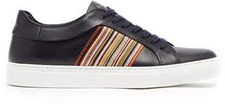 Paul Smith Artist Stripe Leather Low Top Trainers - Mens - Navy