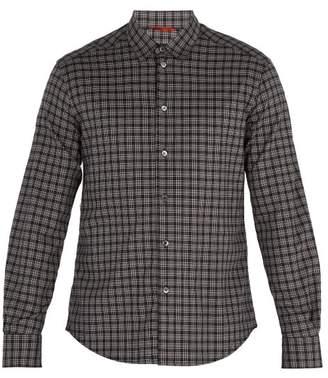 Barena Venezia - Point Collar Checked Cotton Shirt - Mens - Black Multi