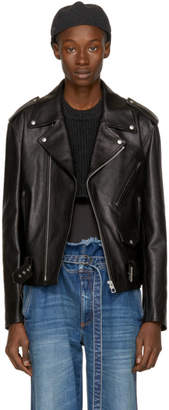 Loewe Black Street Journal Biker Jacket
