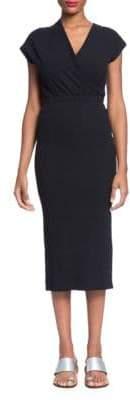 Ribbed Wrap Top Dress