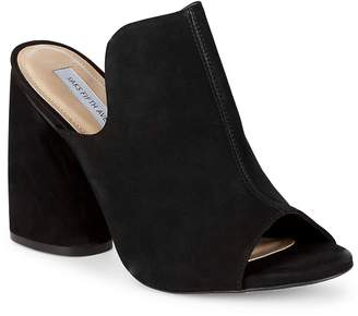 Saks Fifth Avenue Women's Block Heel Suede Mules