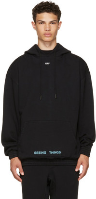 Off-White Black '1991' Over Hoodie $560 thestylecure.com