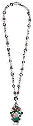 Kenneth Jay Lane Multi Color Deco Pendant Necklace