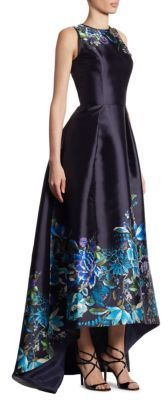 Theia Embroidered Hi-Lo Gown $1,195 thestylecure.com