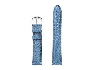 Michele 18mm Seamist Fish Skin Strap Blue