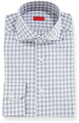 Isaia Men's Gingham Dress Shirt