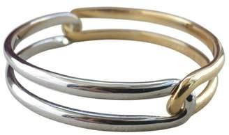 Cartier 18K White Gold and 18K Yellow Gold Interlocking Bracelet Size 62