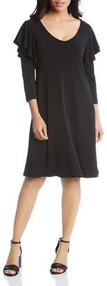 Karen Kane Flutter-Sleeve Dress