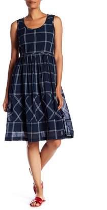 Max Studio Large Check Sleeveless Dress