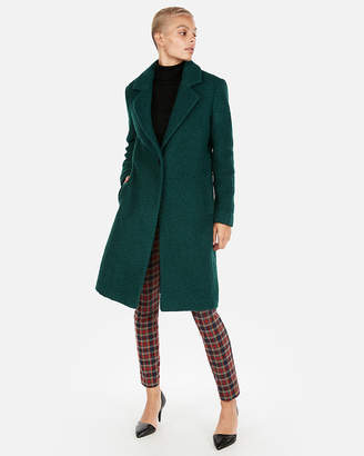 Express Petite Boucle Cocoon Coat