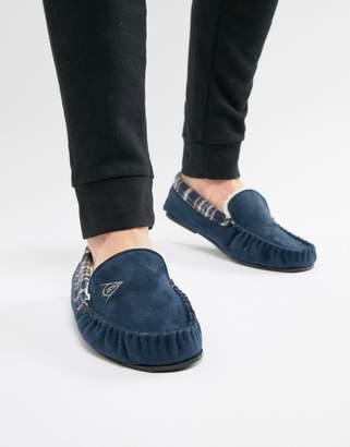 Dunlop Suedette Mocasin Slipper