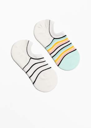 Striped Invisible Sock 2