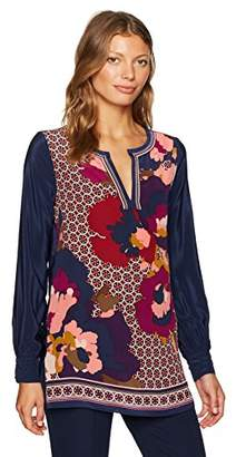 Trina Turk Women's Lotta Fairfax Floral Placed Print Tunic