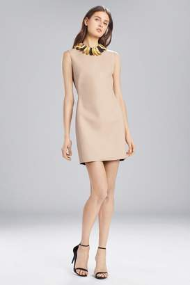 Josie Natori Faux Leather Sleeveless Dress