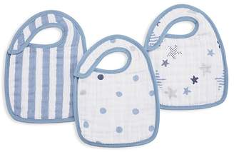 Aden and Anais Infant Rock Star Snap Bibs, 3 Pack