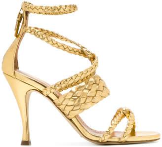 Twin-Set woven stiletto sandals