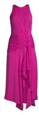 Ramy Brook Lana Tie-Waist Ruffle Dress