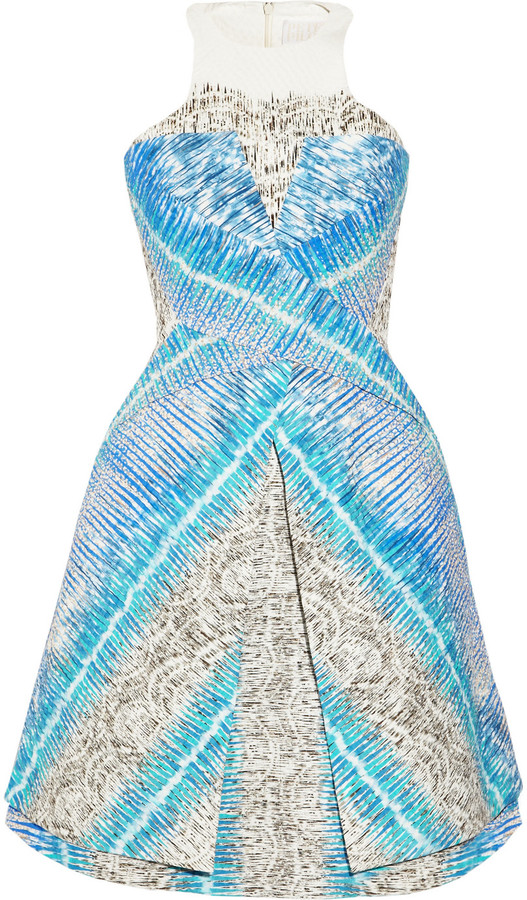 Peter Pilotto Compass printed cotton-blend dress