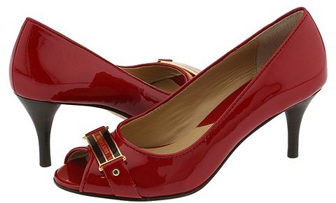 MICHAEL Michael Kors - Kensington Open Toe (Red Patent)