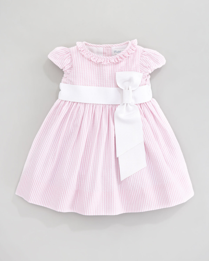 Ralph Lauren Short Sleeve Seersucker Dress, Pink