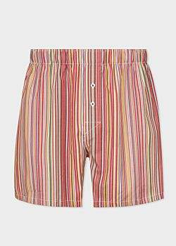 Paul Smith Men's 'Signature Stripe' Cotton Boxer Shorts