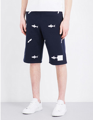 Thom Browne Shark-embroidered cotton shorts $705 thestylecure.com