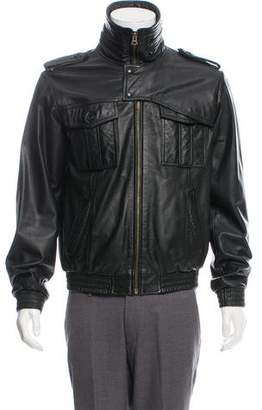 Public School Zip-Up Leather Jacket