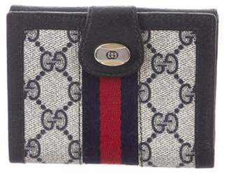 Gucci Vintage GG Plus Compact Wallet Navy Vintage GG Plus Compact Wallet