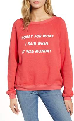 Wildfox Couture Monday Sommer Sweatshirt