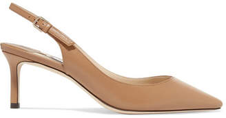 Jimmy Choo Erin 60 Leather Slingback Pumps - Sand