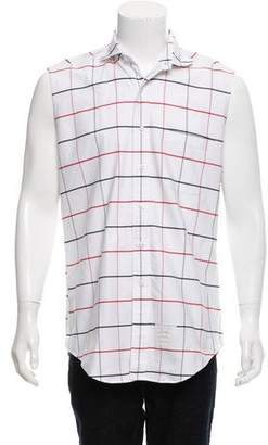 Thom Browne Sleeveless Button-Up Shirt