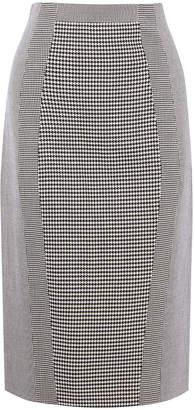 Karen Millen Gingham Pencil Midi Skirt