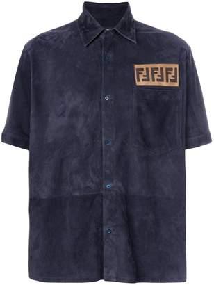 Fendi FF logo suede shirt