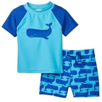 Tucker + Tate Printed Rash Guard Swim Set (Baby Boys)