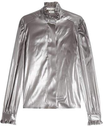 ALYX STUDIO Metallic Silk Blouse