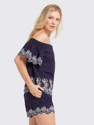 Draper James Off the Shoulder Eyelet Blouse