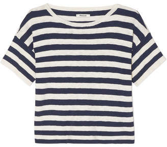 Madewell Striped Cotton-blend T-shirt - White