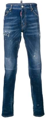 DSQUARED2 distressed slim-fit jeans