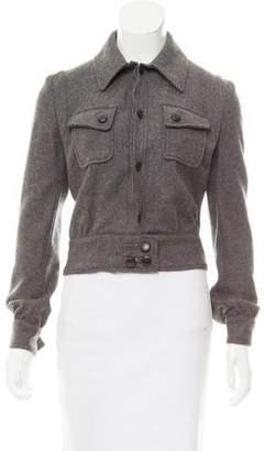 CNC Costume National Cropped Wool Jacket