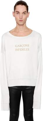 Distressed Cotton Sweatshirt