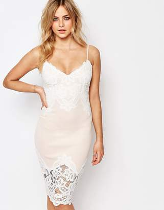 Lipsy Cami Slip Midi Dress With Lace Detail $91 thestylecure.com