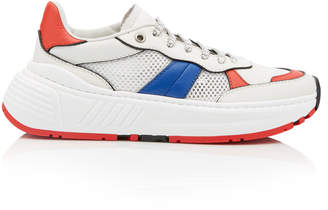 Bottega Veneta Speedster Color-Blocked Leather And Mesh Low-Top Sneakers