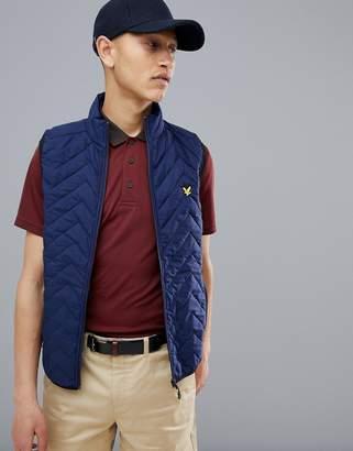Lyle & Scott Golf innes padded vest in navy