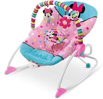 Kinderkraft Chair Bouncer UNIMO 5in1 Electric Rocker Swing Cot Folded with Removable Toy Bar Lying Position Adjustable Backrest Mosquito Net Harness for Newborn Baby Toddlers to 3 Years Pink