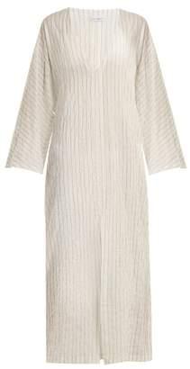 Raey Kimono-sleeve striped sheer-cotton beach dress