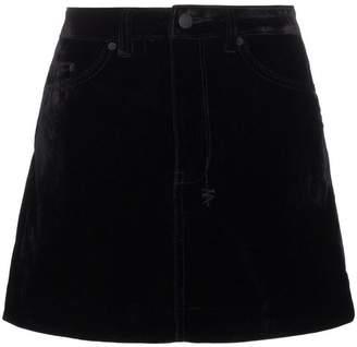 Ksubi velvet mini skirt